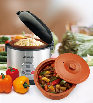 Organic Vita Clay® Slow Cooker